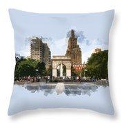 Washington Square Park Greenwich Village New York City Throw Pillow