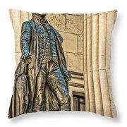 Washington Statue - Federal Hall  #1 Throw Pillow