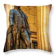 Washington Statue - Federal Hall #2 Throw Pillow