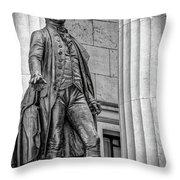 Washington Statue - Federal Hall #3 Throw Pillow