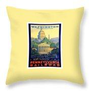 Washington The City Beautiful  Throw Pillow