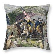 Washington: Trenton, 1789 Throw Pillow