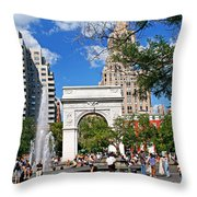 Washingtone Square New York Throw Pillow