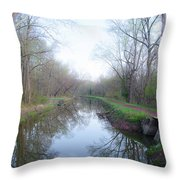 Washingtons Crossing - Along The Delaware Canal Throw Pillow