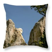 Washingtons Profile Throw Pillow