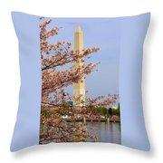 Washinton Monument In Spring Throw Pillow