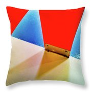 Washroom Indoor Structure Architecture Abstract Throw Pillow