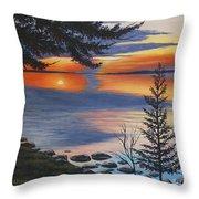 Waskesiu Sunset Throw Pillow