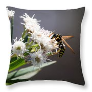 Wasp Closeup Throw Pillow