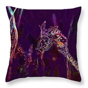 Wasp Insect Makrom Close Up Sting  Throw Pillow