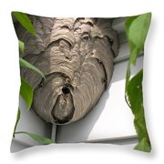 Wasps At Work Throw Pillow