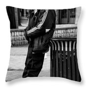 Wasting Away Throw Pillow by David Patterson