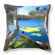 Wat-0002 Avoca Estuary Throw Pillow