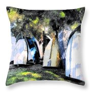 Wat-0008 Boat Hire Throw Pillow