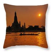 Wat Anun Temple Throw Pillow