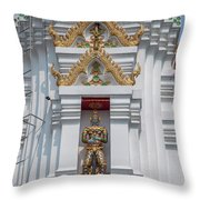 Wat Apson Sawan Phra Chedi Guardian Giant Dthb1922 Throw Pillow