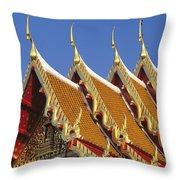 Wat Benjamabophit Throw Pillow
