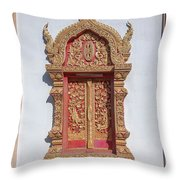 Wat Buppharam Phra Wihan Window Dthcm1581 Throw Pillow