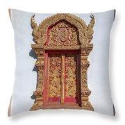 Wat Buppharam Phra Wihan Window Dthcm1582 Throw Pillow