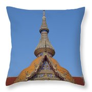 Wat Chaimongkron Phra Wihan Gable And Spire Dthcb0090 Throw Pillow