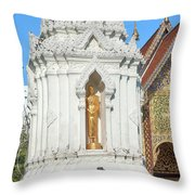 Wat Chamthewi Monk Memorial Chedi Dthlu0090 Throw Pillow