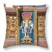 Wat Chedi Mae Krua Wihan Veranda Rail Decorations Dthcm1847 Throw Pillow