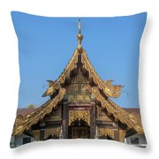 Wat Jed Yod Gable Of The Vihara Of The 700 Years Image Dthcm0963 Throw Pillow