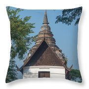 Wat Jed Yod Phra Ubosot Dthcm0967 Throw Pillow