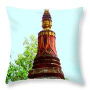 Wat Krom 32 Throw Pillow