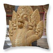 Wat Kumpa Pradit Phra Wihan Five-headed Naga Dthcm1664 Throw Pillow