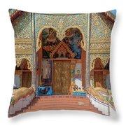 Wat Mae Faek Luang Phra Wihan Entrance Dthcm1876 Throw Pillow