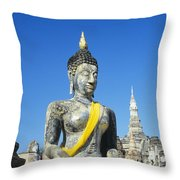 Wat Mahathat Throw Pillow