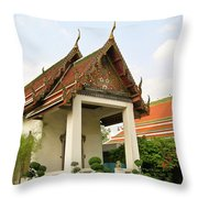 Wat Po 40 Throw Pillow