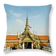 Wat Po Bangkok Thailand 13 Throw Pillow