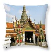 Wat Po Bangkok Thailand 16 Throw Pillow