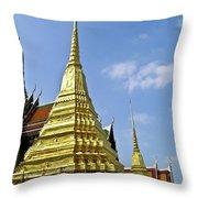 Wat Po Bangkok Thailand 18 Throw Pillow