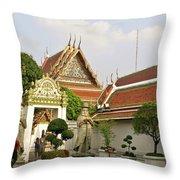 Wat Po Bangkok Thailand 35 Throw Pillow