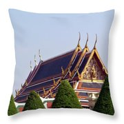 Wat Po Bangkok Thailand 4 Throw Pillow