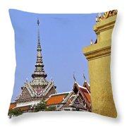Wat Po Bangkok Thailand 6 Throw Pillow