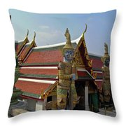 Wat Po Bangkok Thailand 7 Throw Pillow