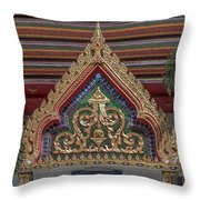 Wat Prachum Khongkha Phra Ubosot Gate Dthcb0172 Throw Pillow