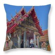 Wat Prachum Khongkha Phra Wihan Dthcb0174 Throw Pillow