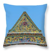 Wat Ratcha Orasaram Phra Wihan Gable Dthb0862 Throw Pillow