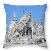 Wat Rong Khun Ubosot Dthcr0004 Throw Pillow