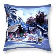 Watar Color Village Throw Pillow