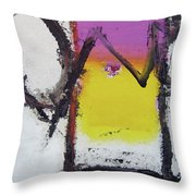 Watch And Listen Throw Pillow by Cliff Spohn