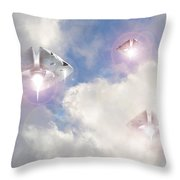 Watch The Sky Throw Pillow