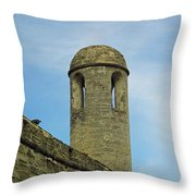 Watch Tower On The Castillo Throw Pillow