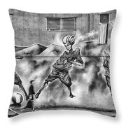 Watch Where You're Walking Throw Pillow
