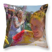 Watch Your Eyes Throw Pillow